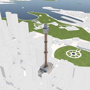 Sydney eye tower and environment model