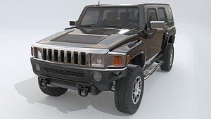 Hummer H3 3D model 3D model