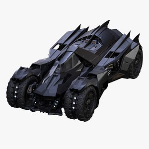 3D Batmobile Arkham Knight Low-poly