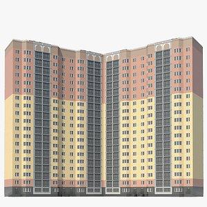 3D corner city building