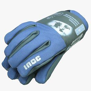 packed gloves model