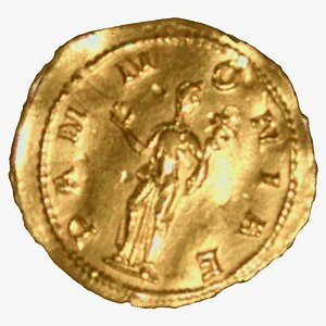 3D model Medieval Gold Coin 01 RAW Scan