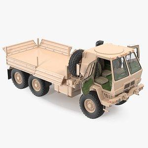 Oshkosh FMTV Cargo Truck 6x6 Rigged 3D model