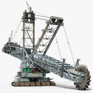 bagger 293 bucket wheel 3D