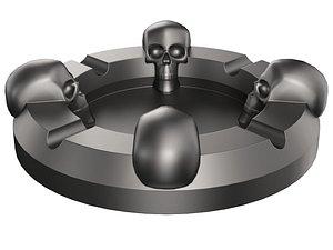 3D Skull Ashtray