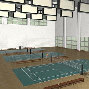 Interior Badminton Court 3D model