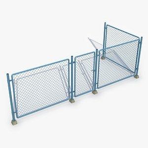 3D fence metal model