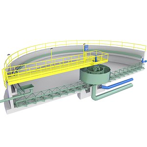 Wastewater Treatment Plant Diagram  Low 4 3D