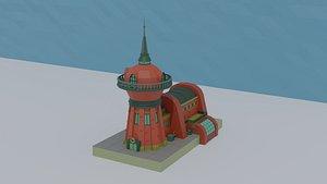cartoon planet express 3D model
