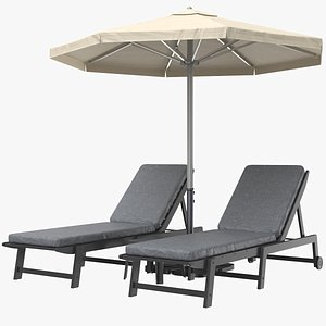 3D model sun lounge lounger