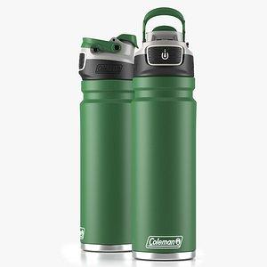Coleman autoseal water bottle Green 3D