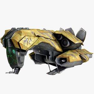 3D spaceship dropship