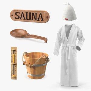 3D model Sauna Equipment Collection