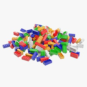 3D Lego Brick Pile
