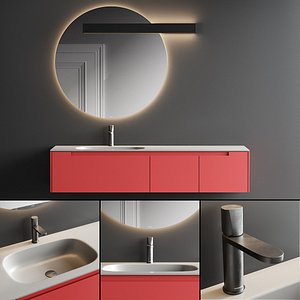 Antonio Lupi Design Orma Vanity Unit Set 1 3D model