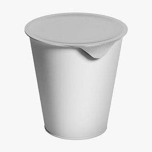 Yogurt Cup 01 3D model