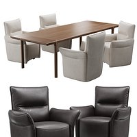 Natuzzi mama chair kendo table