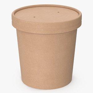 3D cup food kraft model
