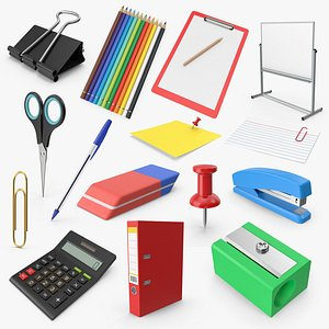 stationary office 15 3D model