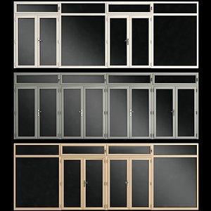doors aluminum stained model