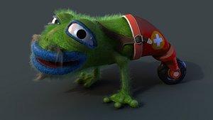 3D model Strange frog