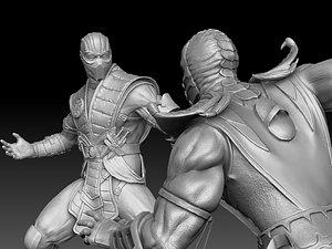 Scorpion VS Subzero. 3D model