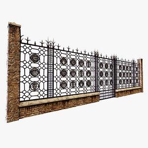 3D ravenna basilica gate model