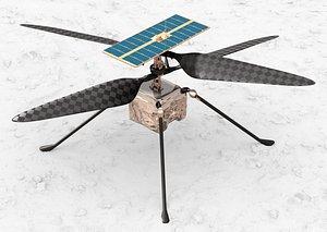 3D Ingenuity Mars Helicopter model