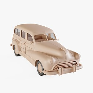 3D model 1947 Oldsmobile Special 66-68 station wagon