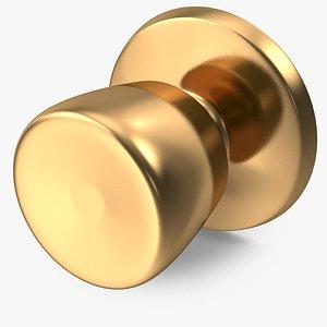 3D door knob golden model