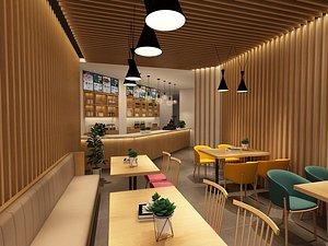 3D Restaurant Industrial style restaurant Western restaurant Bar cafe cafeteria fast food restaurant mu