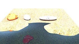 3D beach sand
