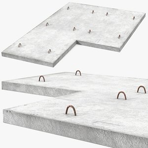 precast floor slab 3D model