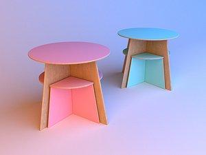 3D Set of designer childrens furniture