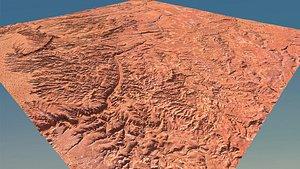 landscape valley 3D model