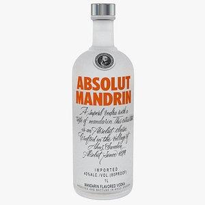 absolut vodka mandrin alcoholic 3D model