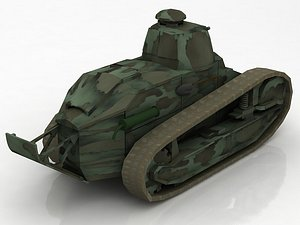 FT17 Berlier Military Tank 3D