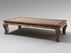 3D pottery barn canton coffee table model