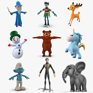 3D model Cartoon Characters Collection 6