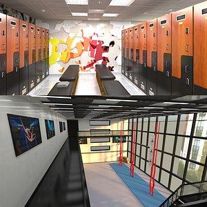 3D Dans Studio and Locker Room