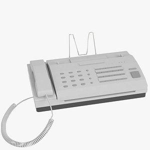 3d model of office fax machine mesh