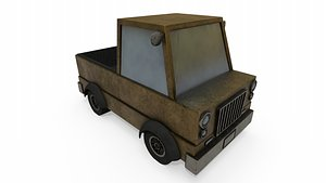 Toy Pick-up Truck 3D