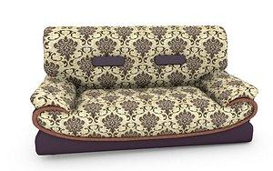 2  Sit  flower Pattern sofa 3D model