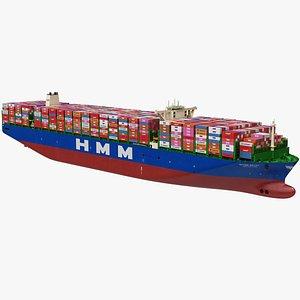 HMM Algeciras Class Container Ship 3D model