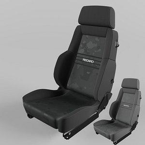 RECARO Expert Comfort Nardo gray Artista gray and black Seat 3D model