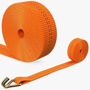 Strap Belt Folded 3D