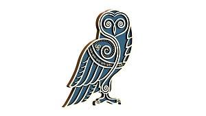 Celtic owl 3D model