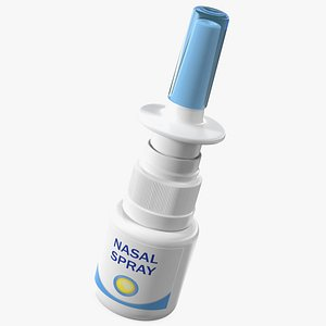 3D allergy symptom controller spray bottle model