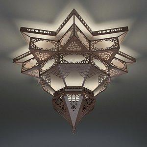 Moroccan Moorish Star Shape Lantern 3D model