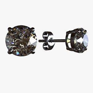 3D model Diamond Earrings